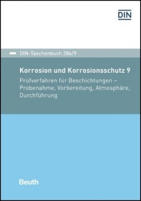 DIN-Taschenbuch 286/9. Korrosion und Korrosionsschutz