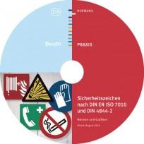 Sicherheitszeichen nach DIN EN ISO 7010 und DIN 4844-2, CD-ROM